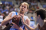 San Pablo Burgos Goran Huskic and Gipuzkoa Basket Henk Norel during Liga Endesa match between San Pablo Burgos and Gipuzkoa Basket at Coliseum Burgos in Burgos, Spain. December 30, 2017. (ALTERPHOTOS/Borja B.Hojas)