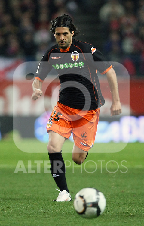 Valencia's Chori Dominguez during La Liga match.(ALTERPHOTOS/Acero)