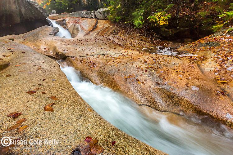 Fall foliage at The Basin, Franconia Notch State Park, New Hampshire, USA