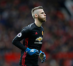 David De Gea of Manchester United during the English Premier League match at Old Trafford Stadium, Manchester. Picture date: April 16th 2017. Pic credit should read: Simon Bellis/Sportimage