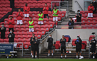 4th July 2020; Ashton Gate Stadium, Bristol, England; English Football League Championship Football, Bristol City versus Cardiff City; Bristol City management team join in a minutes applause at the start of the match
