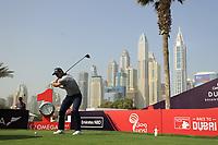 Adri Arnaus (ESP) in action during the third round of the Omega Dubai Desert Classic, Emirates Golf Club, Dubai, UAE. 26/01/2019<br /> Picture: Golffile | Phil Inglis<br /> <br /> <br /> All photo usage must carry mandatory copyright credit (© Golffile | Phil Inglis)