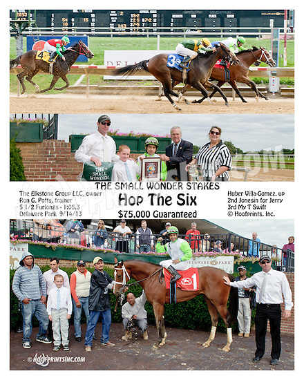 Hop The Six winning The Small Wonder Stakes at Delaware Park on 9/14/13