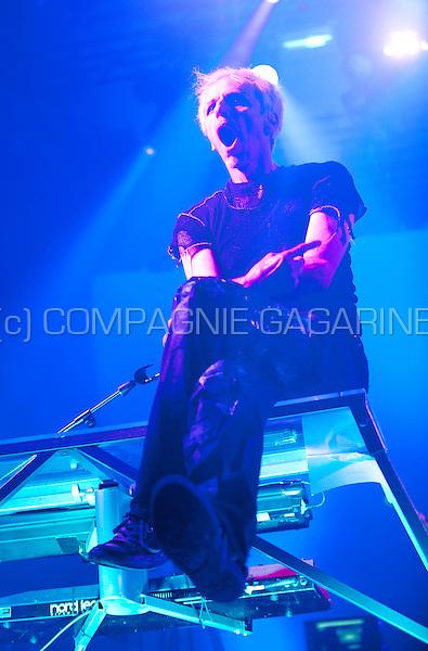 Belgian electronic dance music band Praga Khan performing at the Masters At Rock festival, in Torhout (Belgium, 28/08/2015)