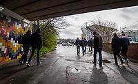 Fans arrive at Elland Road, home of Leeds United FC<br /> <br /> Photographer Alex Dodd/CameraSport<br /> <br /> The EFL Sky Bet Championship - Leeds United v Sheffield United - Saturday 16th March 2019 - Elland Road - Leeds<br /> <br /> World Copyright © 2019 CameraSport. All rights reserved. 43 Linden Ave. Countesthorpe. Leicester. England. LE8 5PG - Tel: +44 (0) 116 277 4147 - admin@camerasport.com - www.camerasport.com
