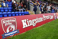 PICTURE BY VAUGHN RIDLEY/SWPIX.COM - Rugby League - 2013 International Origin - England v Exiles - Halliwell Jones Stadium, Warrington, England - 14/06/13 - Kingstone Press Cider boards.
