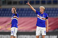 Jakub Jankto and Morten Thorsby of UC Sampdoria react <br /> during the Serie A football match between AS Roma and UC Sampdoria at Olimpico stadium in Rome ( Italy ), June 24th, 2020. Play resumes behind closed doors following the outbreak of the coronavirus disease. AS Roma won 2-1 over UC Sampdoria. <br /> Photo Andrea Staccioli / Insidefoto