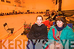 Two of the first parents who queued from 7pm Sunday evening until Monday morning to enrol their child in Mercy Mounthawk for 2009 were Lisa Sinnott and Joan Moriarty.   Copyright Kerry's Eye 2008