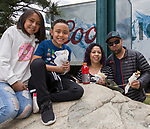 The Armbriz family during the Riverfest in downtown Reno, Nevada on Sunday, May 13, 2018.