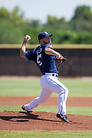 San Diego Padres pitcher Robbie Erlin (41) delivers a pitch to the plate during an Instructional League game against the Texas Rangers on September 20, 2017 at Peoria Sports Complex in Peoria, Arizona. (Zachary Lucy/Four Seam Images)