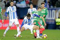 CD Leganes' Guido Carrillo (L) and Deportivo Alaves' Darko Brasanac   during La Liga match. November 23,2018. (ALTERPHOTOS/Alconada) /NortePhoto.com