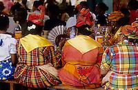 Europe/France/DOM/Antilles/Petites Antilles/Guadeloupe/Pointe-à-Pitre : Fête des cuisinières lors du repas de  la Fête des Cuisinières