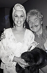 Rip Taylor and friend during the APLA Benefit at the Boaventure Hotel on September 19, 1985 in Los Angeles, California.