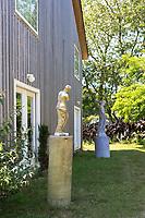 Sculptures in the backyard