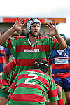 John Kennedy waits for the lineout throw. Counties Manukau Premier rugby game between Waiuku & Ardmore Marist played at Waiuku on Saturday May 10th 2008..Ardmore Marist won 27 - 6 after leading 10 - 6 at halftime.
