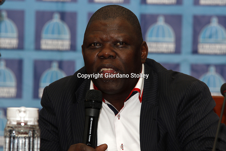 DURBAN - 20 November 2013 - eThekwini Municipal manager Sibusiso Sithole adresses media about the circumstances surrounding the partial collapsing of a shopping mall that was under construction in Tongaat, about 40 kilometres north of Durban. Picture: Allied Picture Press/APP