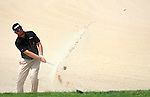 OMAHA, NE - AUGUST 24: Alex Prugh hits out of a bunker on the 17th hole during the third round of the Cox Classic Presented by Lexus of Omaha at Champions Run on August 24, 2013 in Omaha, Nebraska. (Photo by Steve Dykes/Getty Images) *** Local Caption *** Alex Prugh