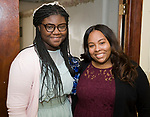 WATERBURY, CT-092317JS13-- Richayla Stallings and Tiesha Teasley at the Refuge Church of Christ's 70th anniversary banquet held at the church in Waterbury. <br />  Jim Shannon Republican-American