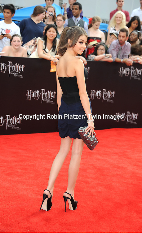 "Sarah Hyland of ""Modern Family"" arriving to the"" Harry Potter and the Deathly Hallows- Part 2""  North American Premiere on July 11, 2011 at Avery Fisher Hall in Lincoln Center in New York City."