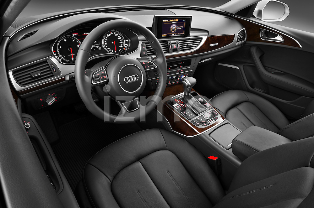 High angle dashboard view of a 2013 Audi A6 Allroad Quattro Wagon