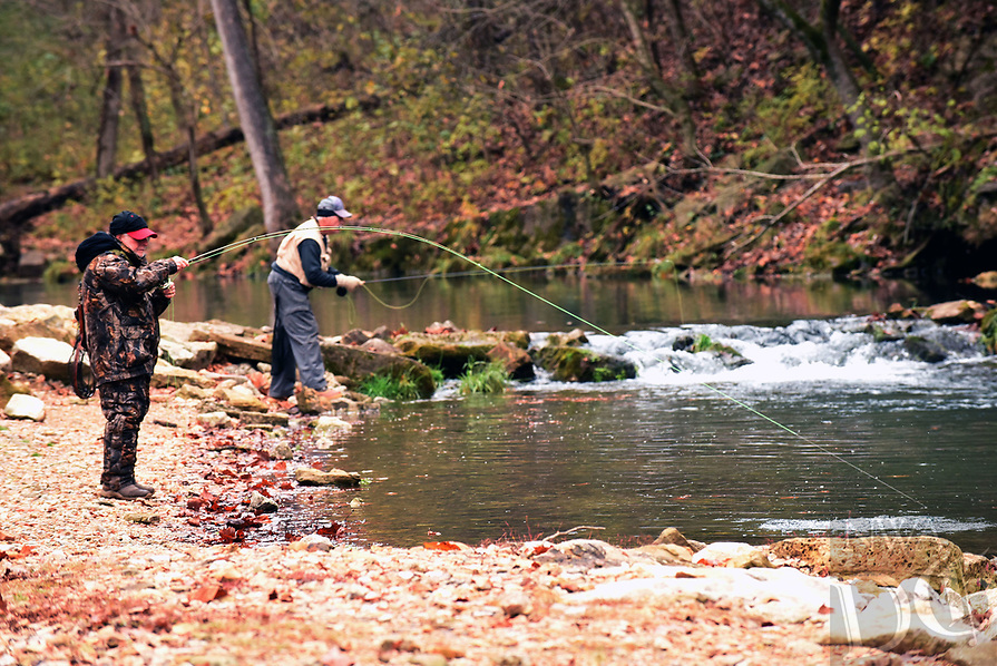 NWA Democrat-Gazette/FLIP PUTTHOFF <br />Trout fishing was good Nov. 8 2018, opening day of catch and release season at Roaring River.