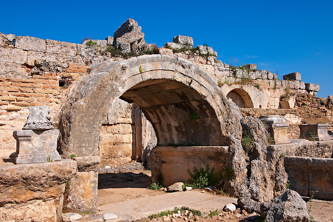 Roman Southern baths of Perge (Perga) archaeological site, Turkey