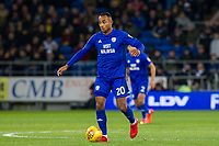 Loic Damour of Cardiff City during the Sky Bet Championship match between Cardiff City and Hull City at the Cardiff City Stadium, Cardiff, Wales on 16 December 2017. Photo by Mark  Hawkins / PRiME Media Images.