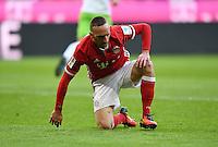 Fussball  1. Bundesliga  Saison 2016/2017  14. Spieltag  FC Bayern Muenchen - VfL Wolfsburg    10.12.2016 Franck Ribery (FC Bayern Muenchen) am Boden