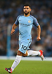Sergio Aguero of Manchester City during the UEFA Champions League Group C match at The Etihad Stadium, Manchester. Picture date: September 14th, 2016. Pic Simon Bellis/Sportimage