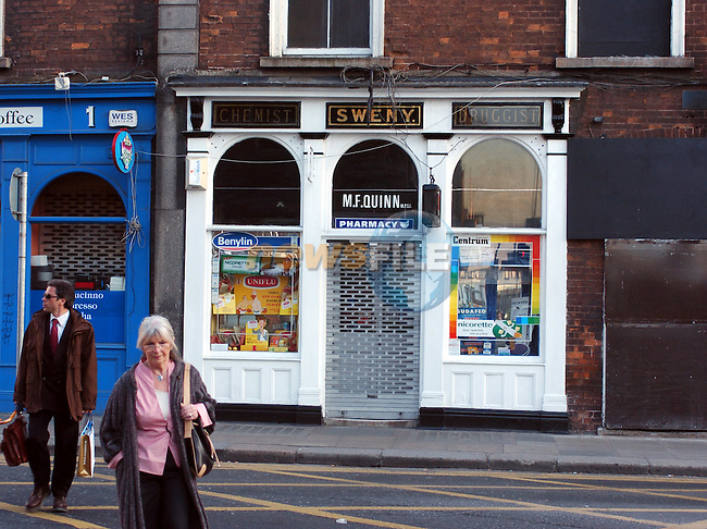 25-05-04 - Sweney's Pharmacy (Not Sweeneys), Lincoln Place, Dublin..Photo:Barry Cronin/Newsfile.