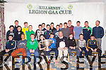 The Legion U14 team that won the East kerry League received their medals at the clubs annual awards night in the Dromhall Hotel on Saturday night