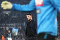 Gennaro Gattuso coach of Napoli<br /> Roma 11-01-2020 Stadio Olimpico <br /> Football Serie A 2019/2020 <br /> SS Lazio - Napoli SSC<br /> Photo Cesare Purini / Insidefoto
