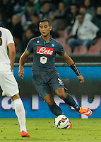 Faouzi Ghoulan    in action during the Italian Serie A soccer match between SSC Napoli and Verona  at San Paolo stadium in Naples, October 26, 2014