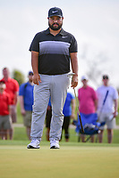 J.J. Spaun (USA) watches his putt on 1 during round 3 of the Shell Houston Open, Golf Club of Houston, Houston, Texas, USA. 4/1/2017.<br /> Picture: Golffile | Ken Murray<br /> <br /> <br /> All photo usage must carry mandatory copyright credit (&copy; Golffile | Ken Murray)