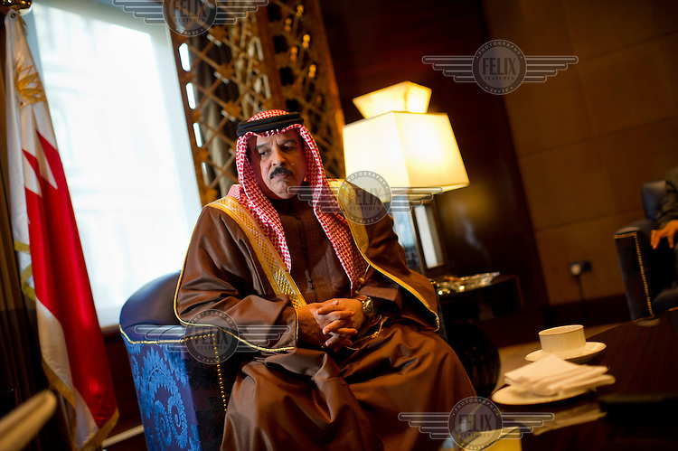 His Majesty King Hamad of Bahrain during an official visit to London..