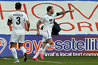 James Norwood of Tranmere Rovers celebrates scoring the opening goal during Tranmere Rovers vs Dagenham & Redbridge, Vanarama National League Football at Prenton Park on 11th November 2017