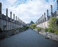 medevil row houses in wells. Somerset England, 6-2002