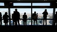 Nederland  Amsterdam  - 2017 . 5de editie Open Toren Dag. 28 historische en hedendaagse torens openen hun deuren. Uitzicht vanuit  het ABN AMRO gebouw aan de Zuidas.     Foto Berlinda van Dam / Hollandse Hoogte