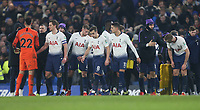 Tottenham players prepare for the penalty shoot-out<br /> <br /> Photographer Rob Newell/CameraSport<br /> <br /> The Carabao Cup Semi-Final Second Leg - Chelsea v Tottenham Hotspur - Thursday 24th January 2019 - Stamford Bridge - London<br />  <br /> World Copyright © 2018 CameraSport. All rights reserved. 43 Linden Ave. Countesthorpe. Leicester. England. LE8 5PG - Tel: +44 (0) 116 277 4147 - admin@camerasport.com - www.camerasport.com