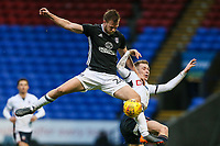 Bolton Wanderers' Josh Vela challenging Fulham's  Tomas Kalas<br /> <br /> Photographer Andrew Kearns/CameraSport<br /> <br /> The EFL Sky Bet Championship - Bolton Wanderers v Fulham - Saturday 10th February 2018 - Macron Stadium - Bolton<br /> <br /> World Copyright &copy; 2018 CameraSport. All rights reserved. 43 Linden Ave. Countesthorpe. Leicester. England. LE8 5PG - Tel: +44 (0) 116 277 4147 - admin@camerasport.com - www.camerasport.com