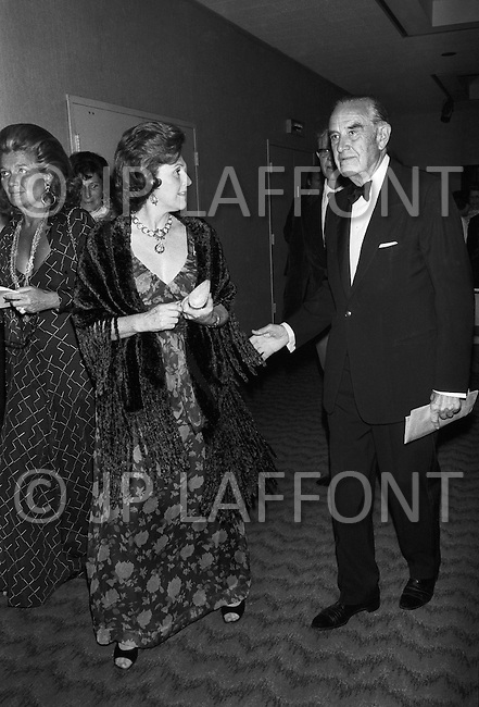 Governor W. Averell Harriman and his wife at the fund raising dinner held by The Democratic Study Group in his honour, at the Sheraton Park Hotel in Washington.