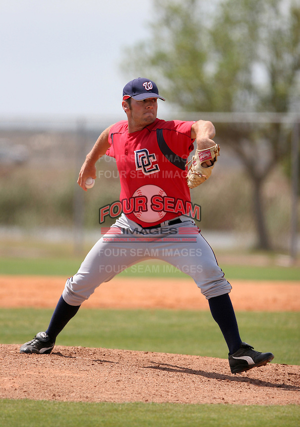 Washington Nationals minor leaguer Greg Bunn during Spring Training at the Carl Barger Training Complex on March 20, 2007 in Melbourne, Florida.  (Mike Janes/Four Seam Images)