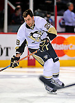 3 February 2009: Pittsburgh Penguins' right wing forward Eric Godard warms up prior to a game against the Montreal Canadiens at the Bell Centre in Montreal, Quebec, Canada. The Canadiens defeated the Penguins 4-2. ***** Editorial Sales Only ***** Mandatory Photo Credit: Ed Wolfstein Photo