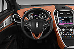 Car pictures of steering wheel view of a 2016 Lincoln MKX Black Label 5 Door Suv Steering Wheel