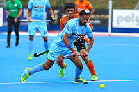 India's Akashdeep Singh during the Hockey World League Quarter-Final match between India and Malaysia at the Olympic Park, London, England on 22 June 2017. Photo by Steve McCarthy.