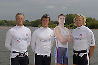 Reading, GREAT BRITAIN, GB M4-, left Alex PARTRIDGE, Steve WILLIAMS, Peter REED and Andy TWIGGS-HODGE, GB Rowing 2007 FISA World Cup Team Announcement, at the GB Training centre, Caversham, England on Thur. 26.04.2007  [Photo, Peter Spurrier/Intersport-images] , Rowing course: GB Rowing Training Complex, Redgrave Pinsent Lake, Caversham, Reading
