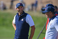 Dustin Johnson (Team USA) waits to putt on 10 during Saturday's foursomes of the 2018 Ryder Cup, Le Golf National, Guyancourt, France. 9/29/2018.<br /> Picture: Golffile | Ken Murray<br /> <br /> <br /> All photo usage must carry mandatory copyright credit (&copy; Golffile | Ken Murray)