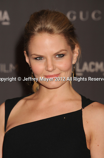 LOS ANGELES, CA - OCTOBER 27: Jennifer Morrison arrives at LACMA Art + Film Gala at LACMA on October 27, 2012 in Los Angeles, California.