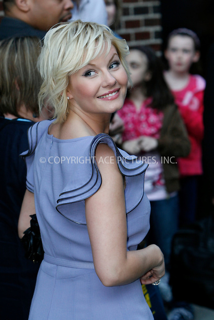 WWW.ACEPIXS.COM..April 16 2009, New York City..Actress Elisha Cuthbert made an appearance at the 'Late show with David Letterman' at the Ed Sullivan Theatre on April 16 2009 in New York City...Please byline: Nancy Rivera - ACEPIXS.COM...*** ***...Ace Pictures, Inc.tel: (212) 243 8787.e-mail: info@acepixs.com.web: http://www.acepixs.com..