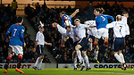 Bilel Mohsni heads down for Nicky Clark to score his fourth goal of the match